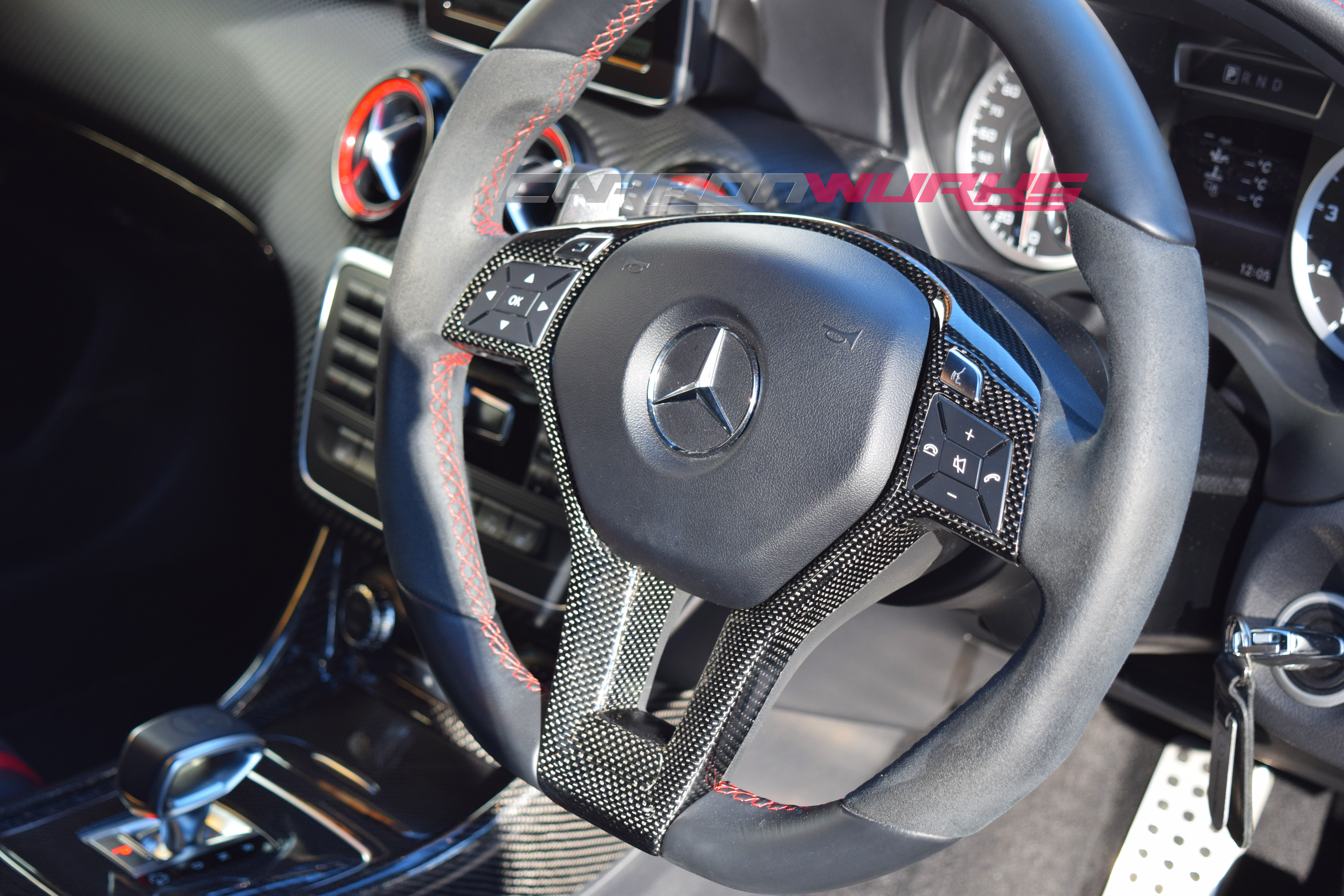Carbonwurks Custom Carbon Fibremercedes Benz A Class Carbon Fibre Steering Wheel Carbonwurks