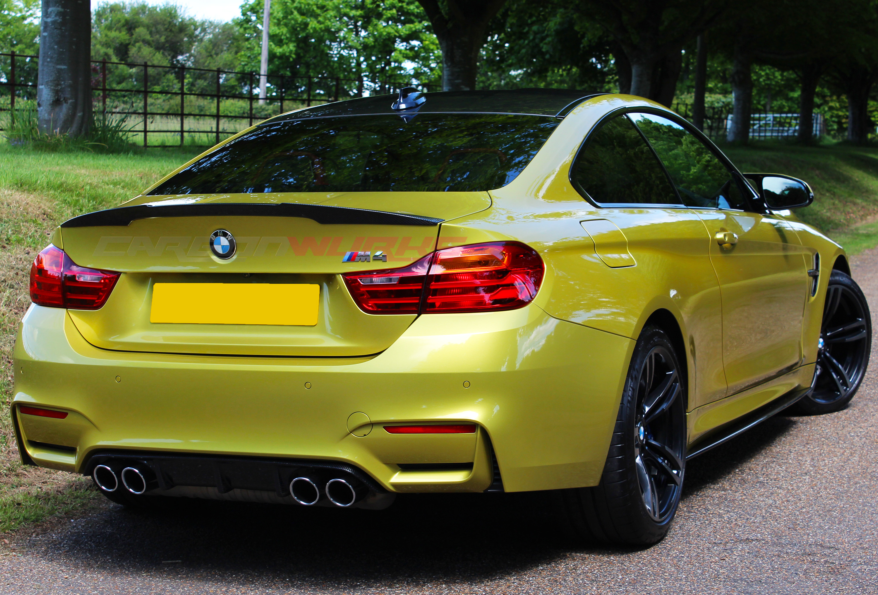 Carbonwurks Custom Carbon Fibrebmw M4 Coupe Carbon Fibre Rear Spoiler Carbonwurks Custom
