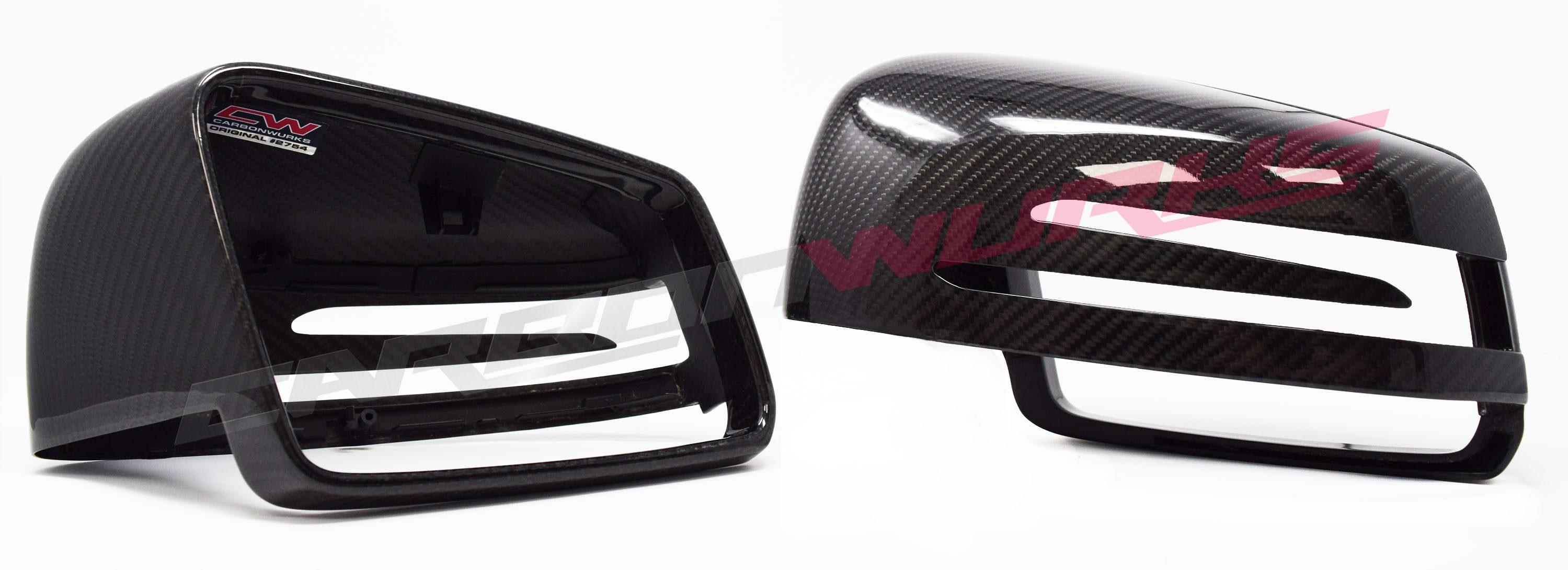Mercedes Benz Gloss Carbon Fibre Mirrors