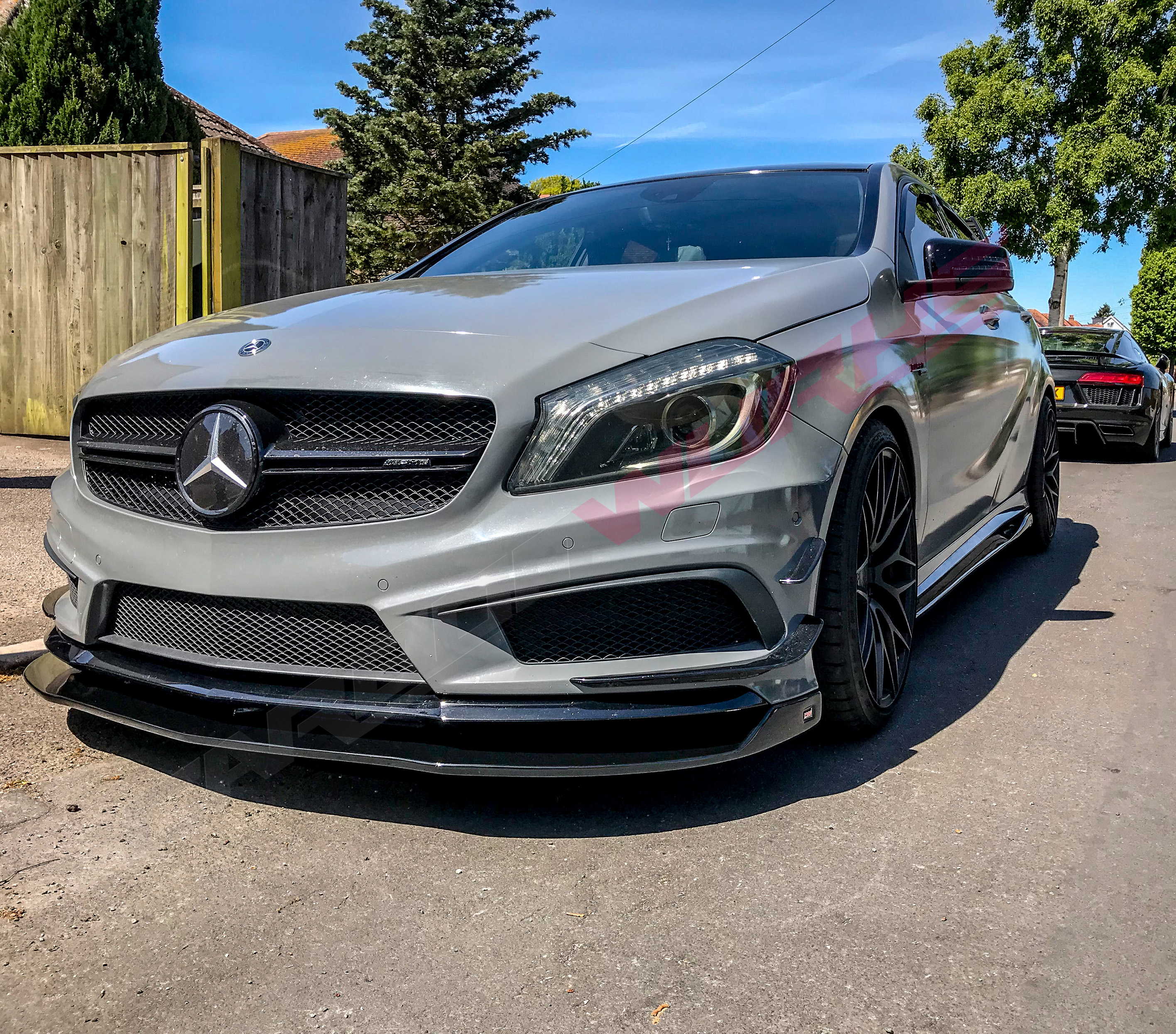 A/CLA Gloss Black Side Skirt Extensions