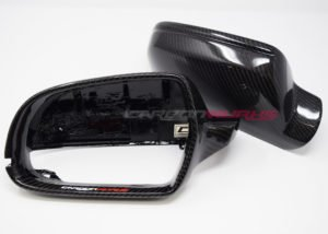 Audi A3 8P Gloss Carbon Fibre Mirrors - With Lane Assist