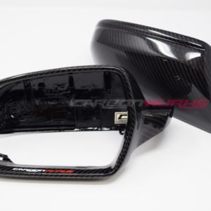 Audi A3 8P Gloss Carbon Fibre Mirrors - Without Lane Assist