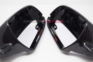 Audi A3 8P Gloss Carbon Fibre Mirrors - With Lane Assist