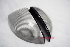 Audi A3 Silver Carbon Fibre Mirrors - Without Lane Assist - Exclusive Range