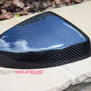 Audi A3 Gloss Carbon Fibre Mirrors - Without Lane Assist