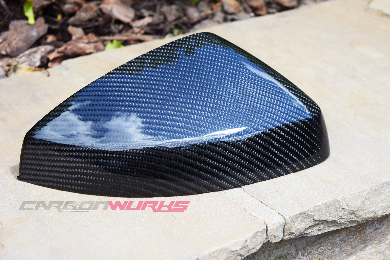 Audi A3 Gloss Carbon Fibre Mirrors - Without Lane Assist