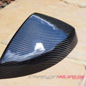 Audi A3 Gloss Carbon Fibre Mirrors - With Lane Assist