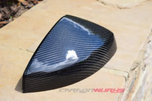 Audi TT/R8 Gloss Carbon Fibre Mirrors - Without Lane Assist