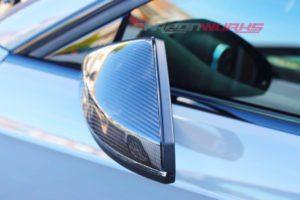 Audi A3 Red Carbon Fibre Mirrors - Without Lane Assist - Exclusive Range