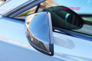 Audi A3 Silver Carbon Fibre Mirrors - Without Lane Assist - Exclusive Range