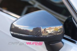 Audi A3 Gloss Carbon Fibre Mirrors - With Lane Assist