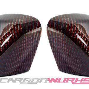 Audi A3 Red Carbon Fibre Mirrors - Without Lane Assist - Exclusive Range