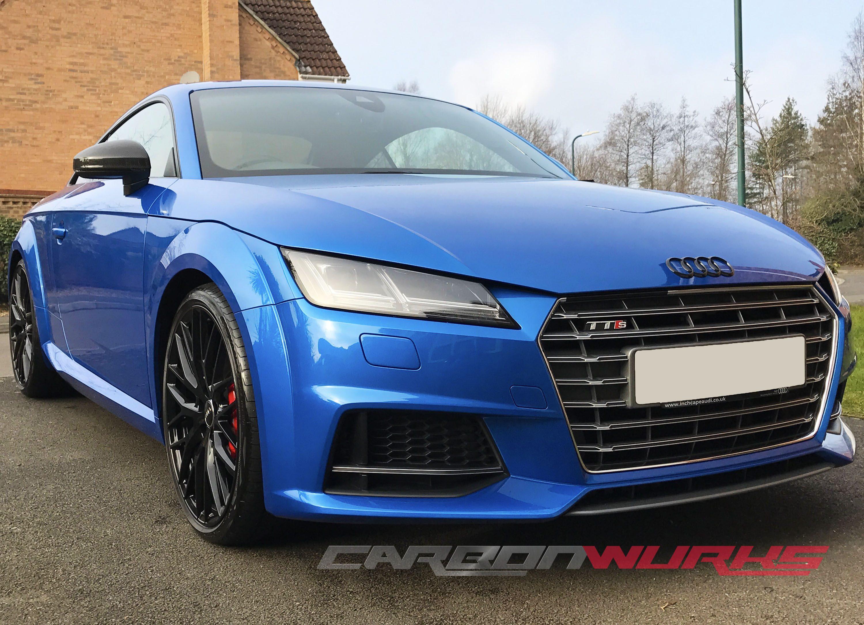 Audi TT/R8 Gloss Carbon Fibre Mirrors - With Lane Assist
