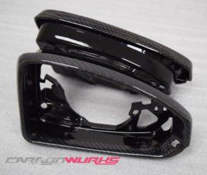 Audi TT/R8 Gloss Carbon Fibre Mirror Bezels