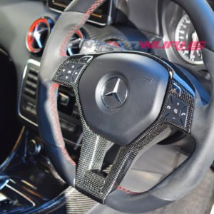 Mercedes Benz Carbon Fibre Steering Wheel Trim