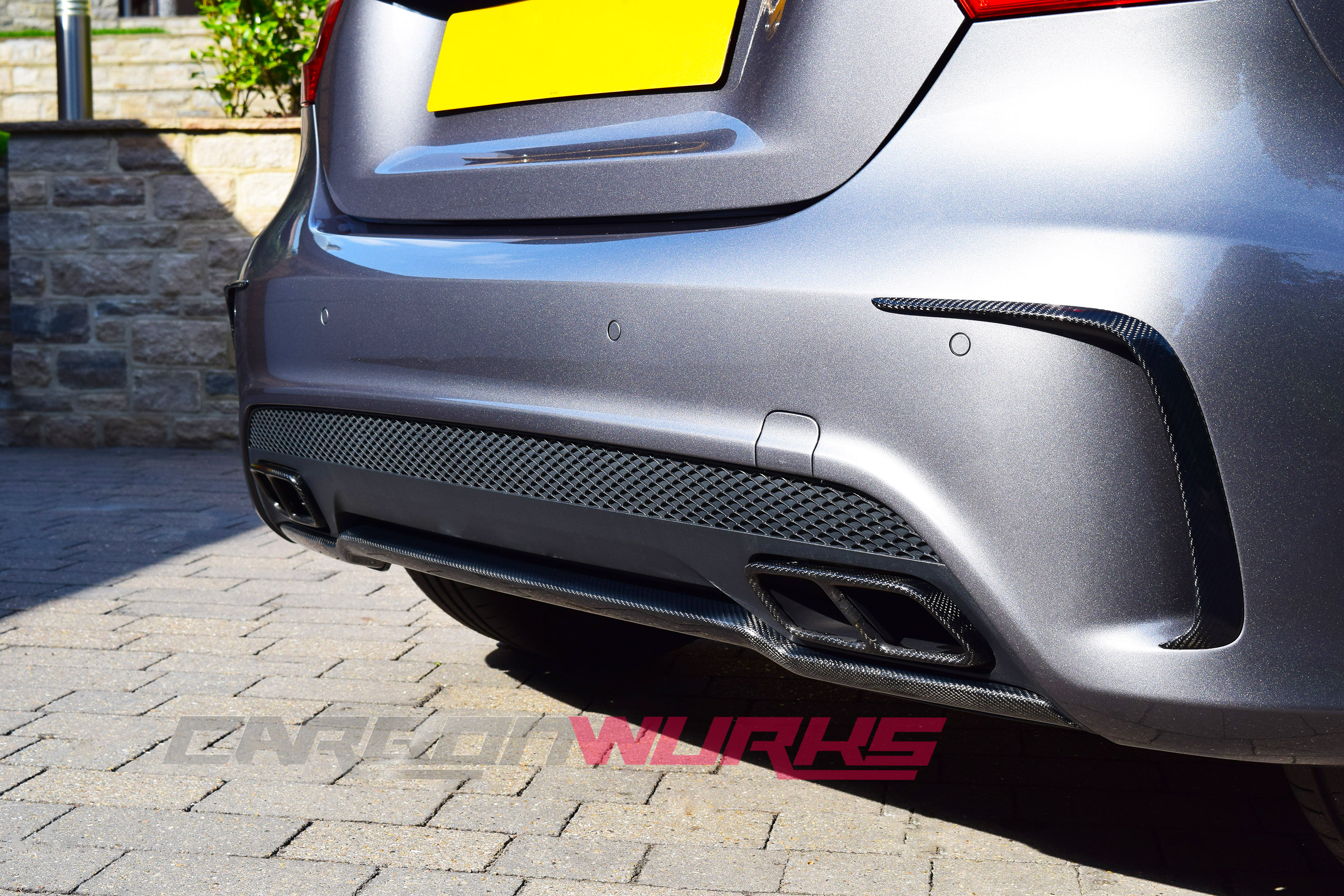 Mercedes A class Carbon Fibre Rear Bumper Flicks/Spoiler