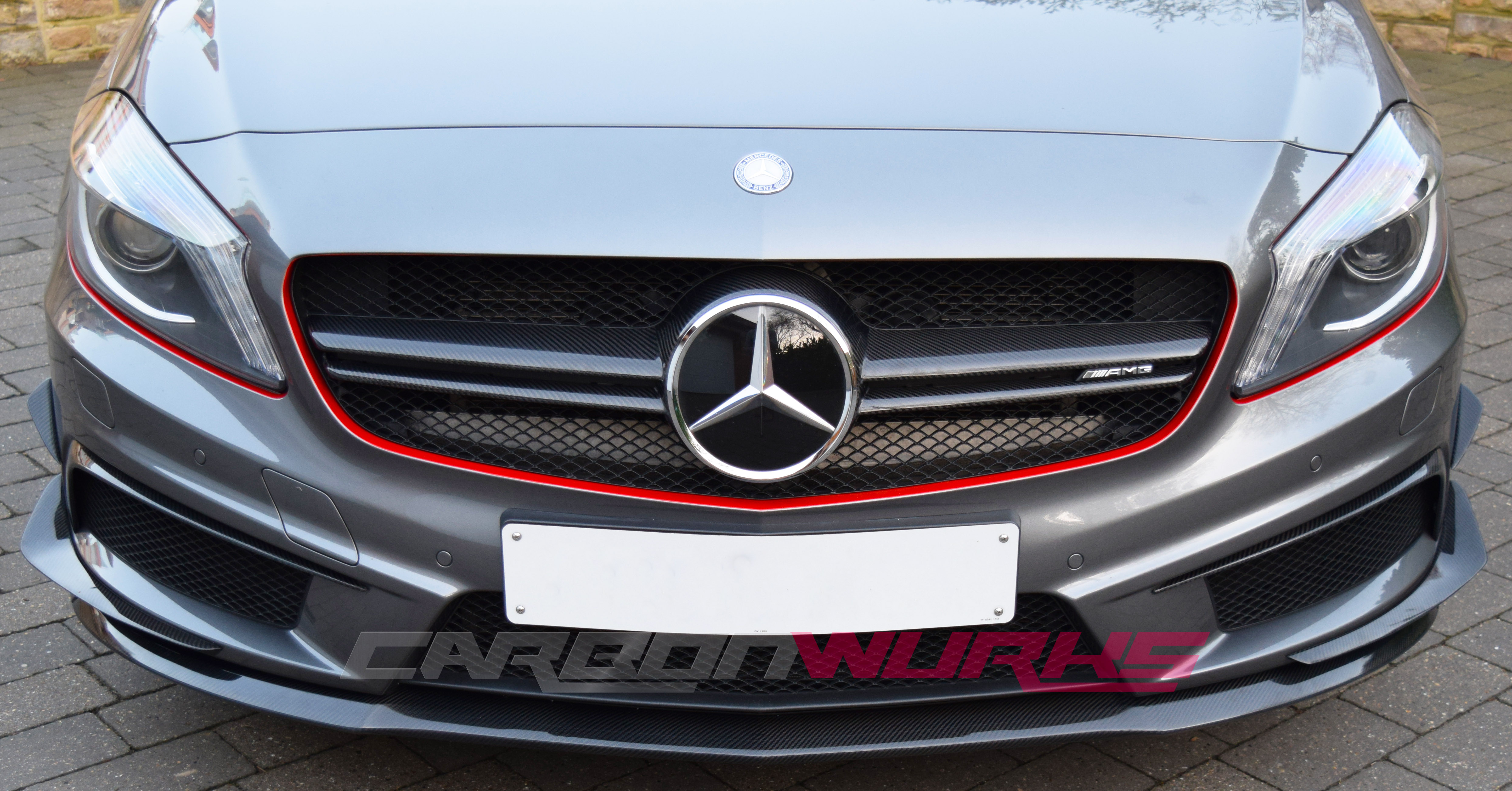 Mercedes Benz A Class Front Canards + Intake Spoilers