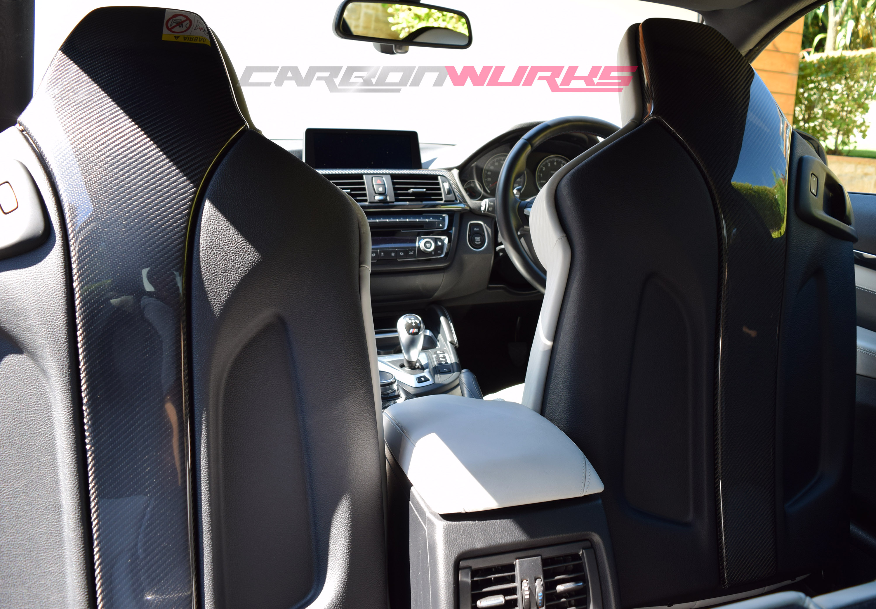 BMW M3/M4 Carbon Fibre Seat Back Covers
