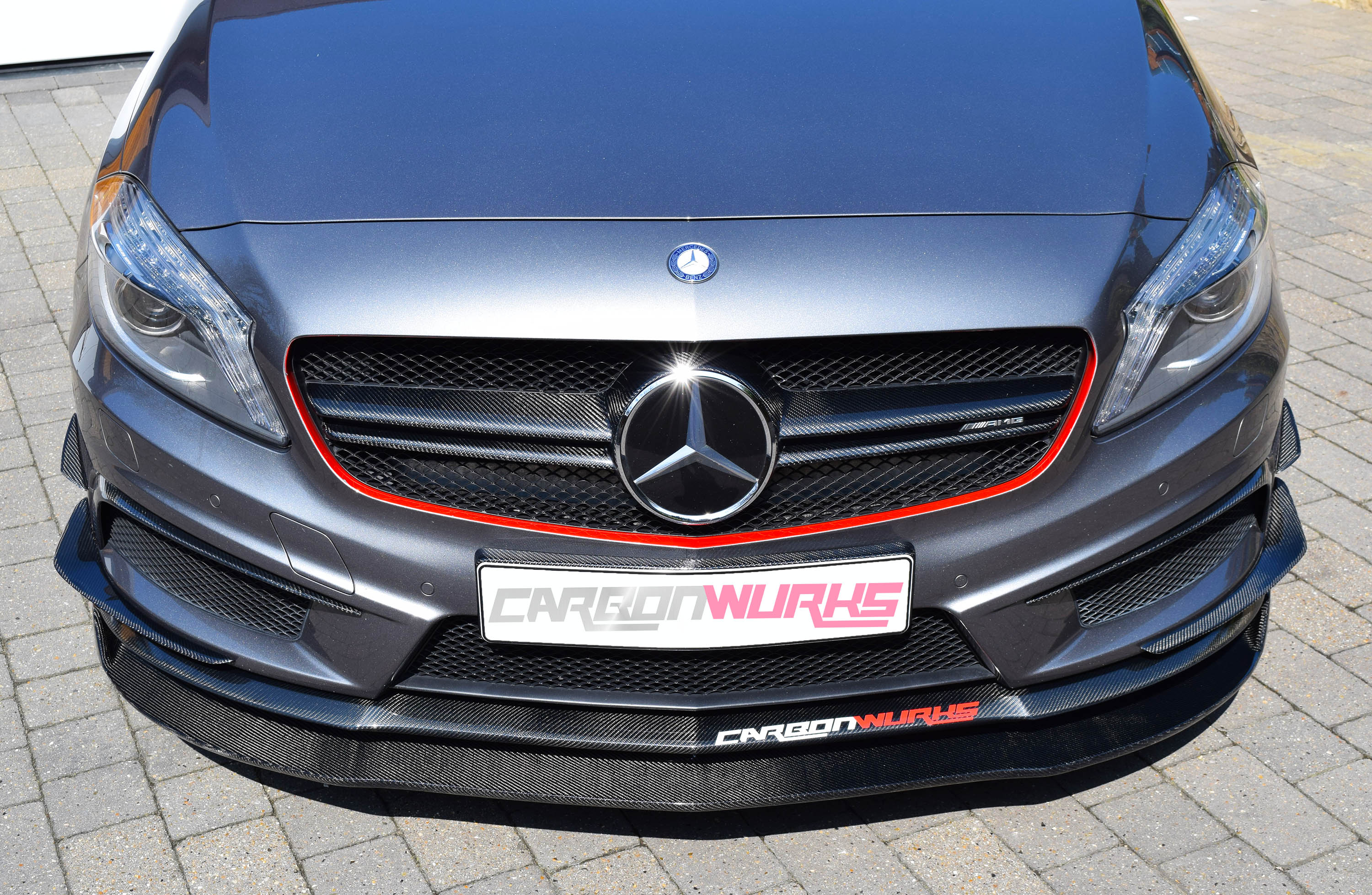 A Class Carbon Fibre Front Spoiler Extension