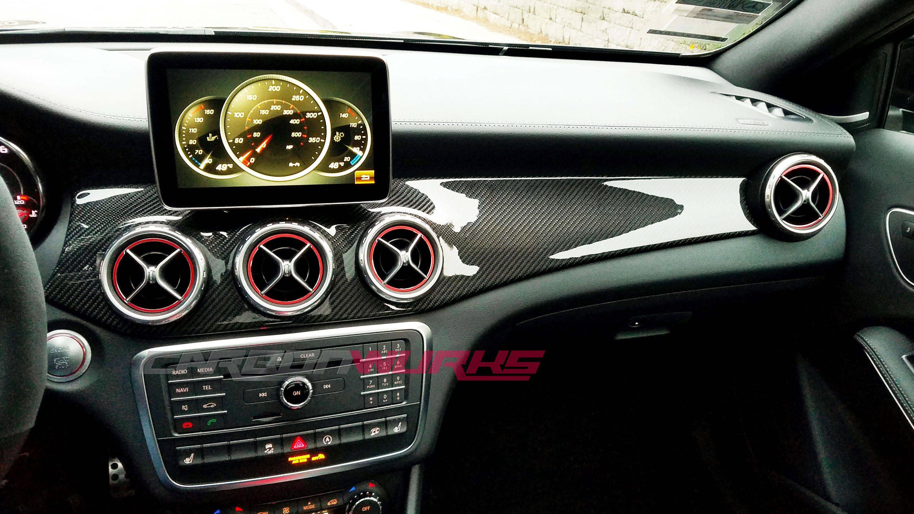Mercedes CLA/GLA Carbon Fibre Dashboard Trim - Left Hand Drive