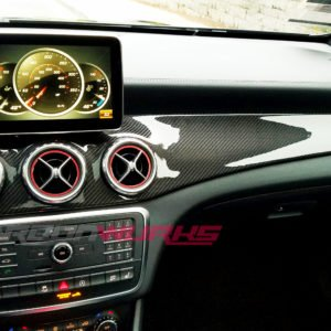 Mercedes CLA/GLA Carbon Fibre Dashboard Trim - Right Hand Drive