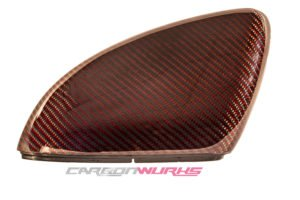 VW Golf MK7 Red Carbon Fibre Mirrors - Exclusive Range