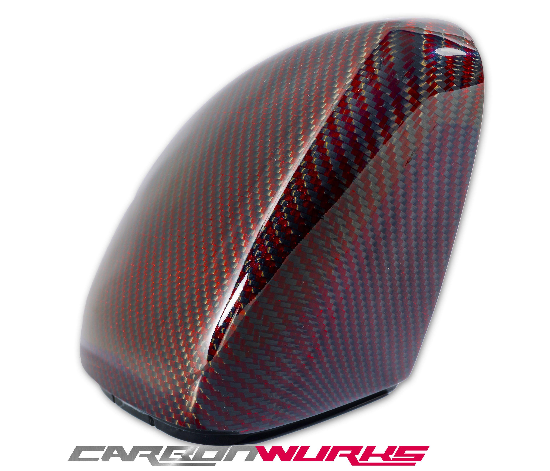VW Golf MK7 Red Carbon Fibre Mirrors - Exclusive Range