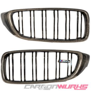 BMW M3/M4 Carbon Fibre Kidney Grilles - M Power Colours