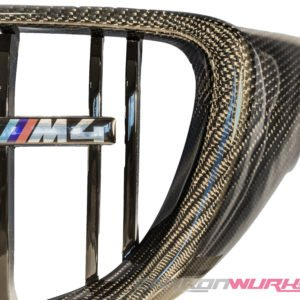 BMW M3/M4 Carbon Fibre Kidney Grilles - Gloss black