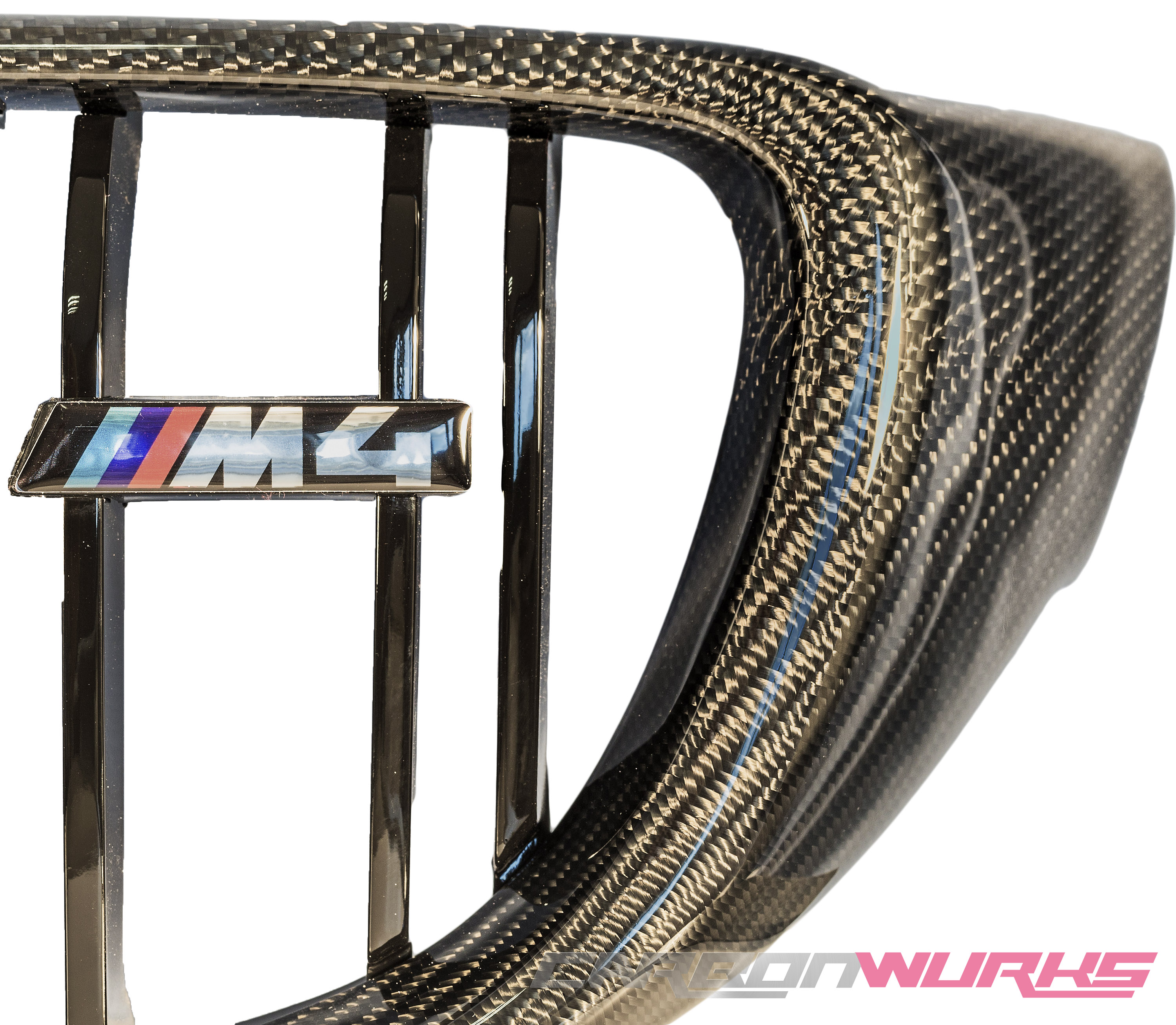 BMW M3/M4 Carbon Fibre Kidney Grilles - M Power Colours