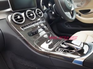 C63/C Class Carbon Fibre Centre Console - No Clock Option