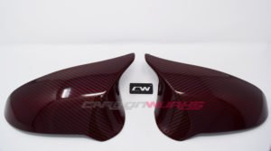 BMW M3/M4 Red Carbon Fibre Mirrors - Right Hand Drive