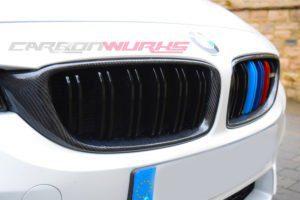 BMW M3/M4 Carbon Fibre Kidney Grilles - Gloss black
