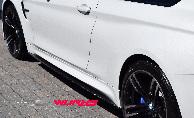 BMW M3/M4 4 Series Carbon Fibre Side Skirt Extensions