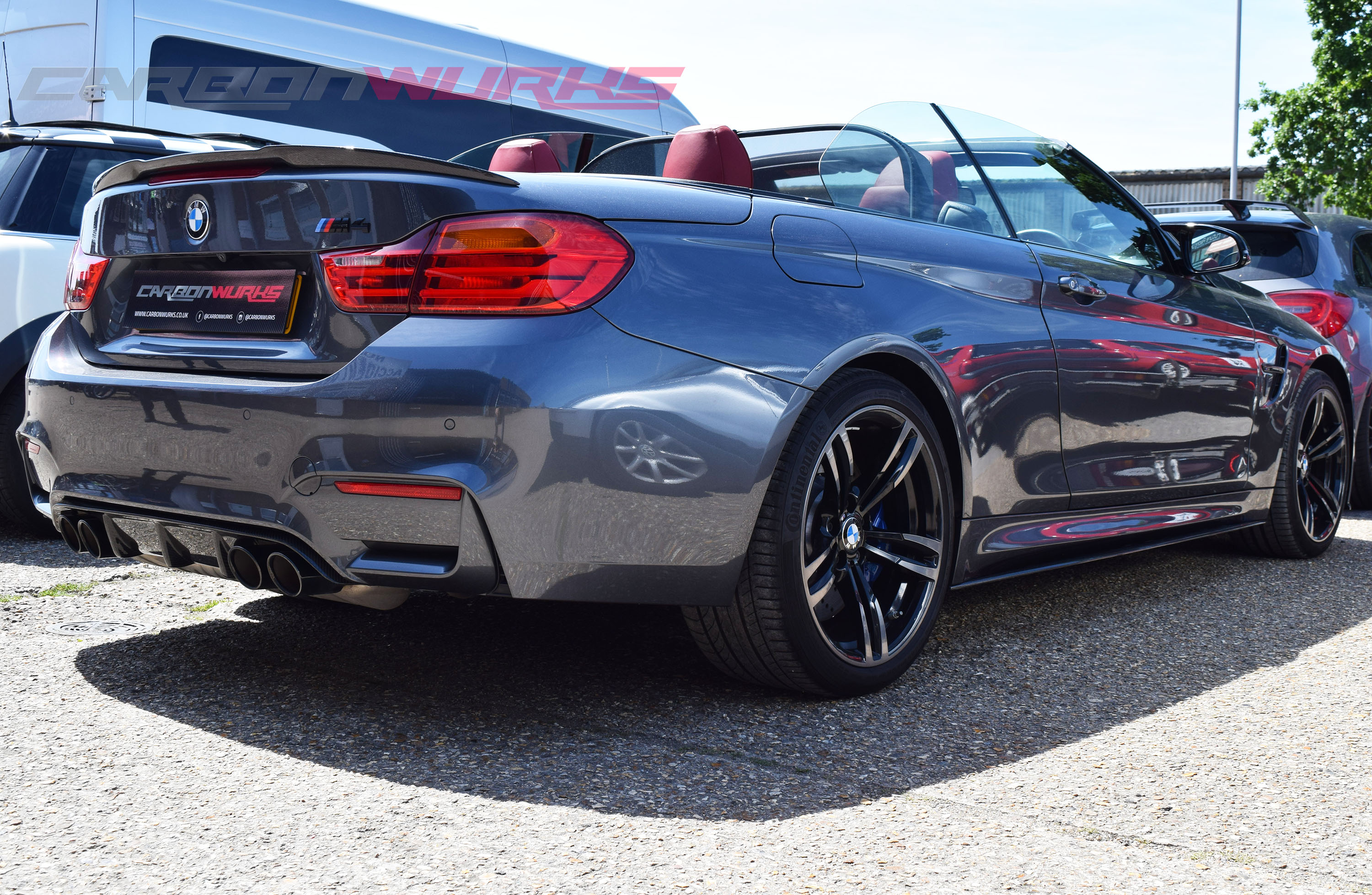 BMW M4 4 Series Convertible Carbon Fibre Rear Spoiler