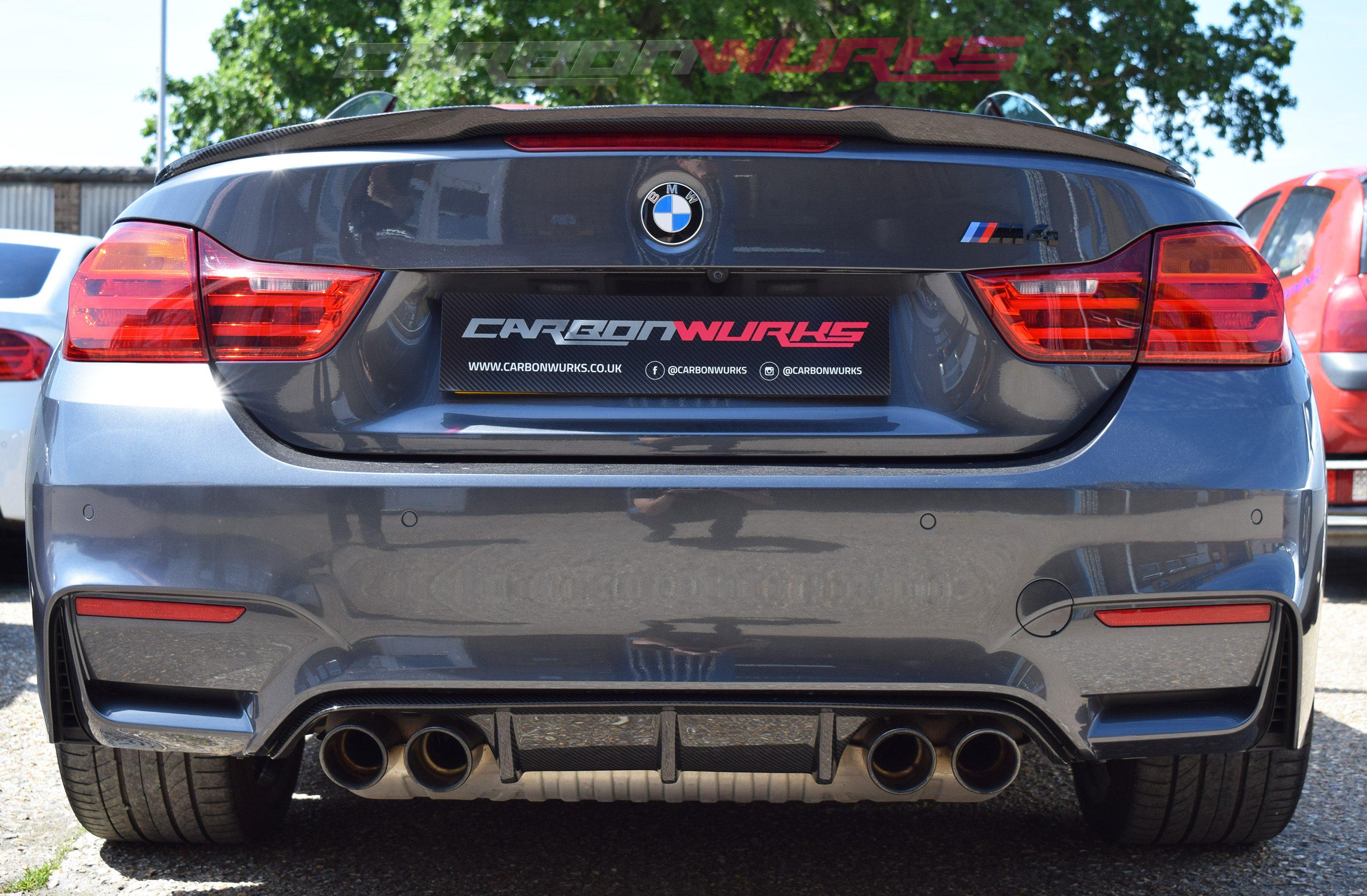 Bmw M4 4 Series Convertible Carbon Fibre Rear Spoiler Carbonwurks