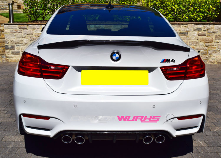 bmw m4 m performance coupe carbon fibre rear spoiler. Black Bedroom Furniture Sets. Home Design Ideas