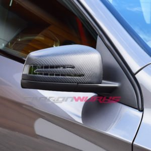 Mercedes Benz Matte Carbon Fibre Mirrors