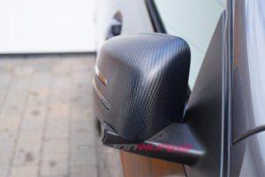 Mercedes Benz Matte Carbon Fibre Mirrors