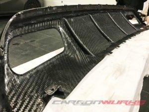 Mercedes A45 Carbon Fibre Double Diffuser