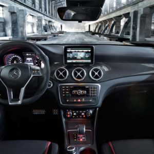 Mercedes CLA/GLA Carbon Fibre Dashboard Trim - Left Hand Drive