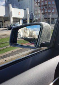 Mercedes Benz Silver Carbon Fibre Mirrors - Exclusive Range