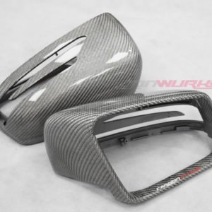 Mercedes Benz Silver Carbon Fibre Mirrors - Exclusive Range