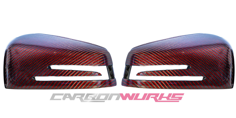 Mercedes Benz Red Carbon Fibre Mirrors - Exclusive Range