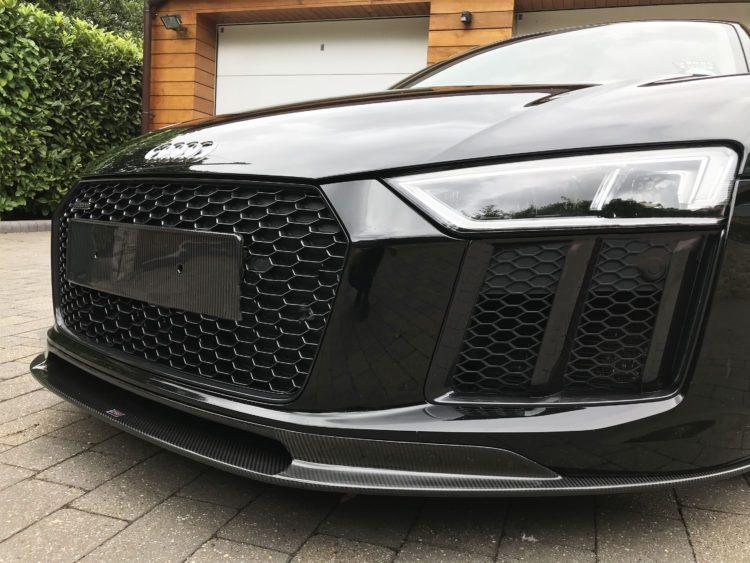 Audi R8 Carbon Fibre Number Plate Plinth Set