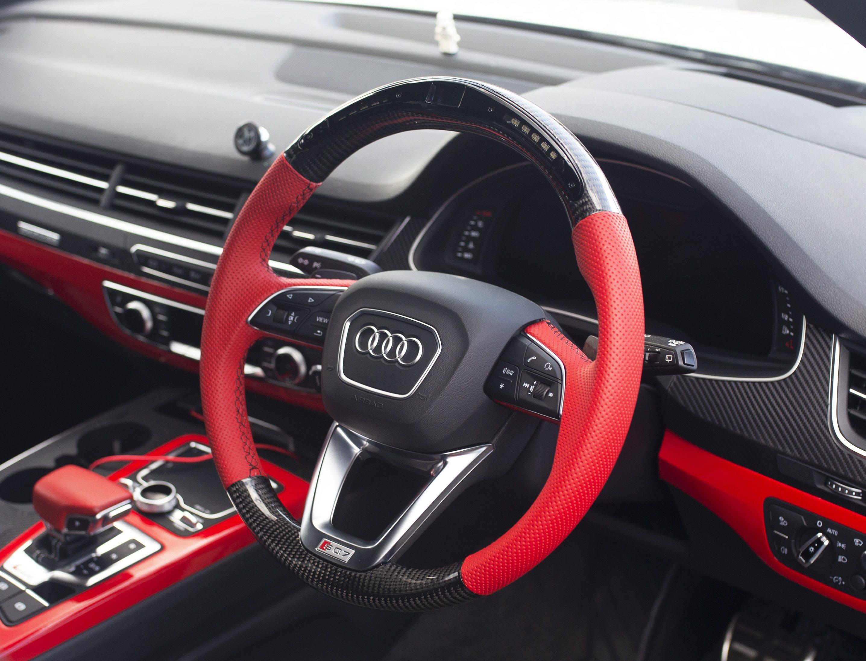Audi Q5 Sq5 Q7 Sq7 A4 Carbon Fibre Steering Wheel Customisable Carbonwurks Custom Carbon Fibre